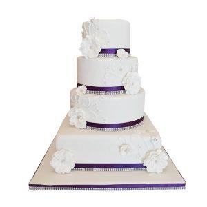 Diamante Elegance Wedding Cake